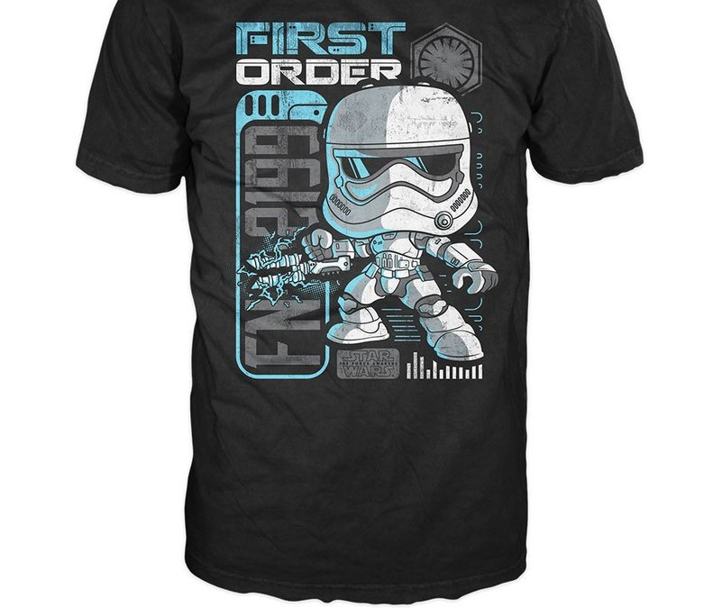 New Force Awakens First Order Riot Control Trooper Funko T-Shirt available!