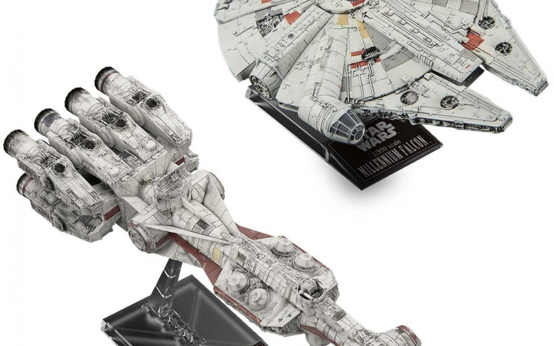 New A New Hope Blockade Runner & Millennium Falcon Model Kit Set in stock!