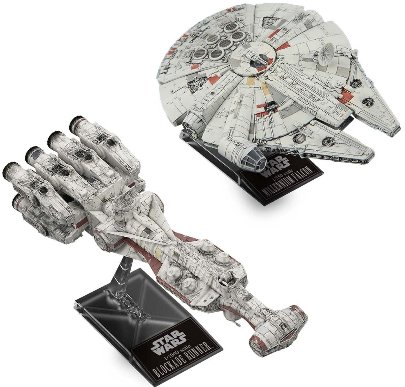 ANH Blockade Runner & Millennium Falcon Model Kit Set