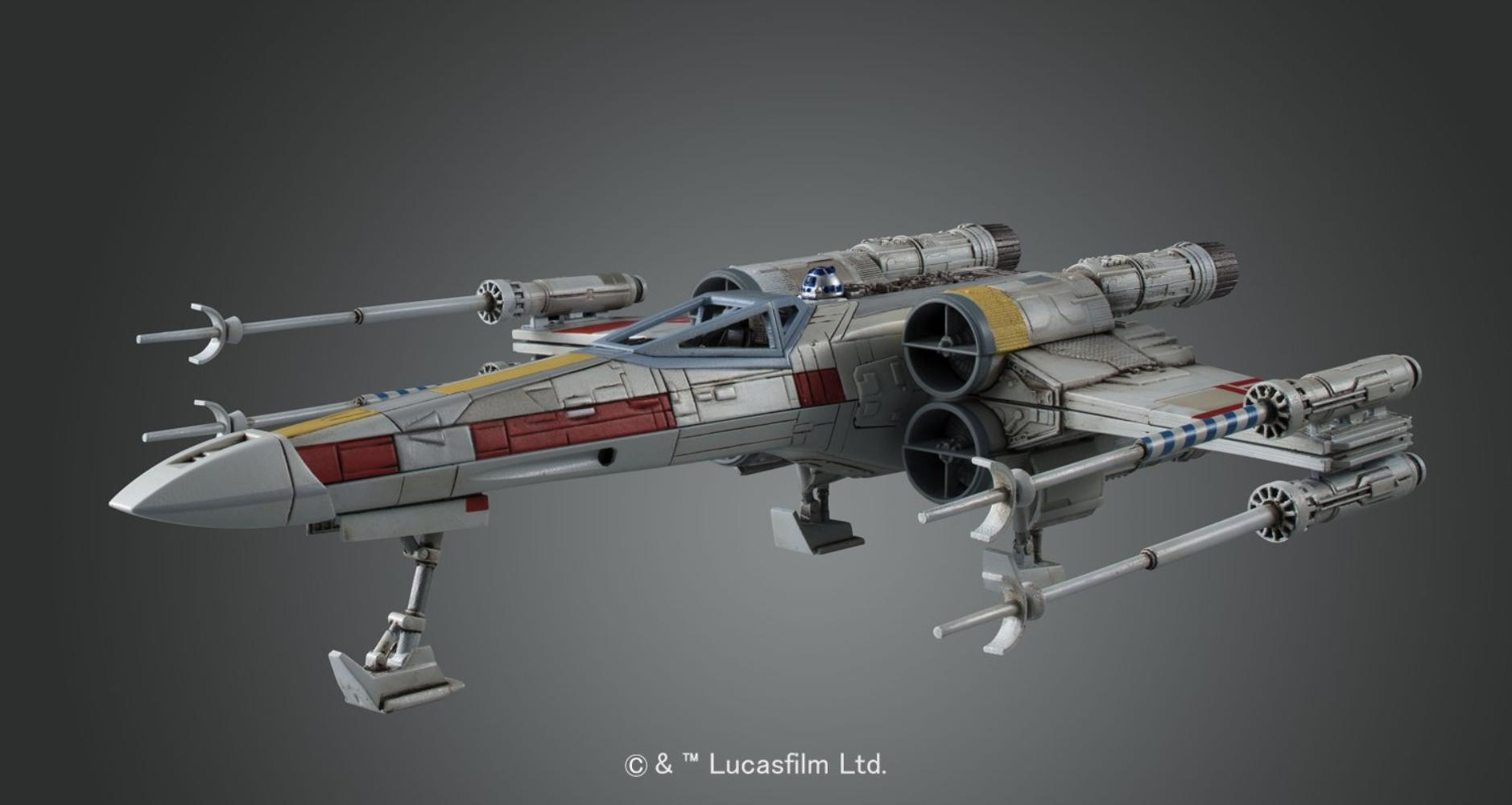 ANH X-Wing Fighter Model Kit 4
