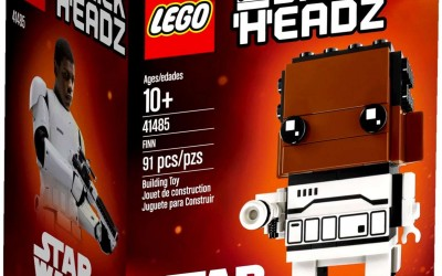 New Force Awakens Finn Brick Headz Lego Set available!