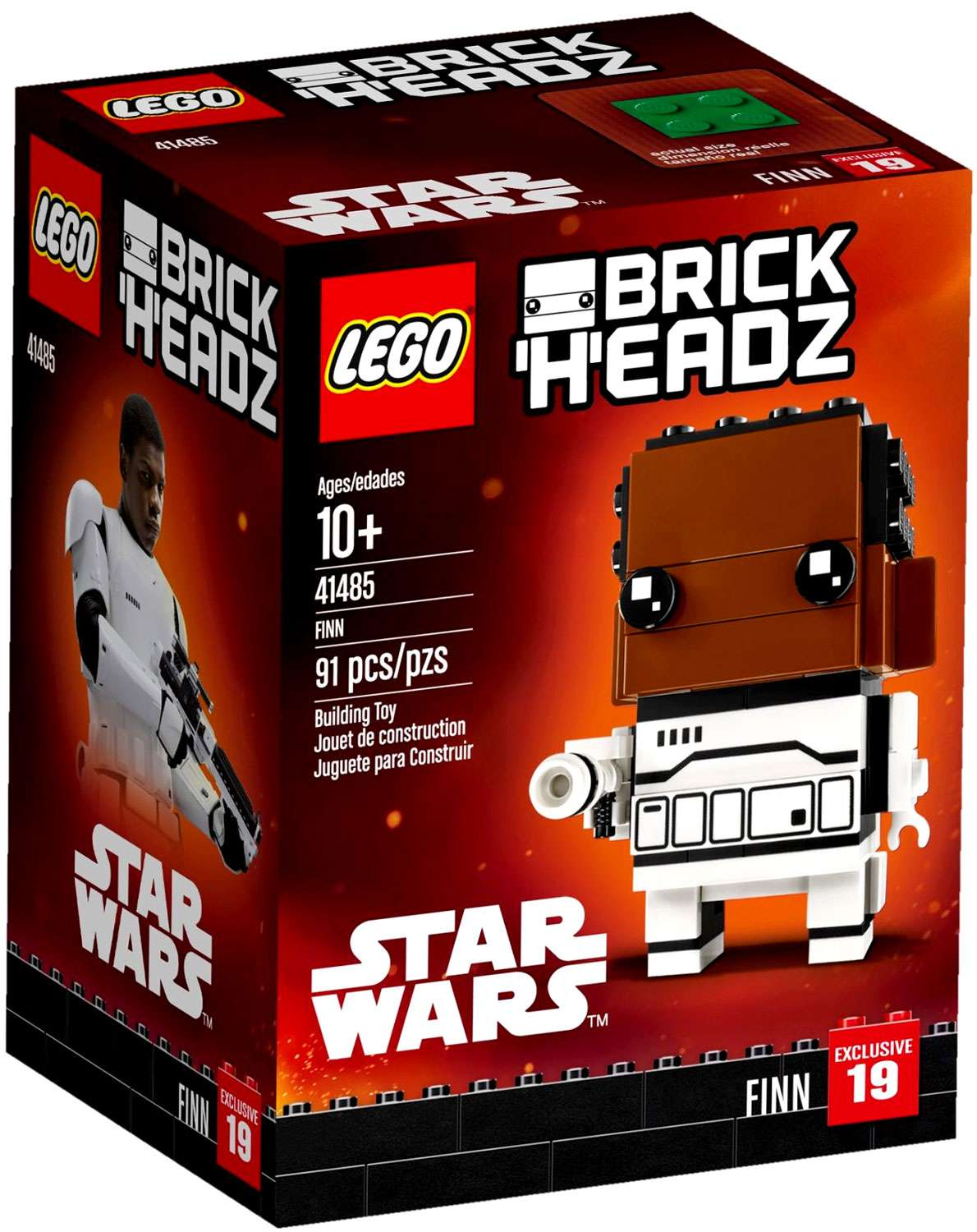 TFA Finn Brick Headz Lego Set 1