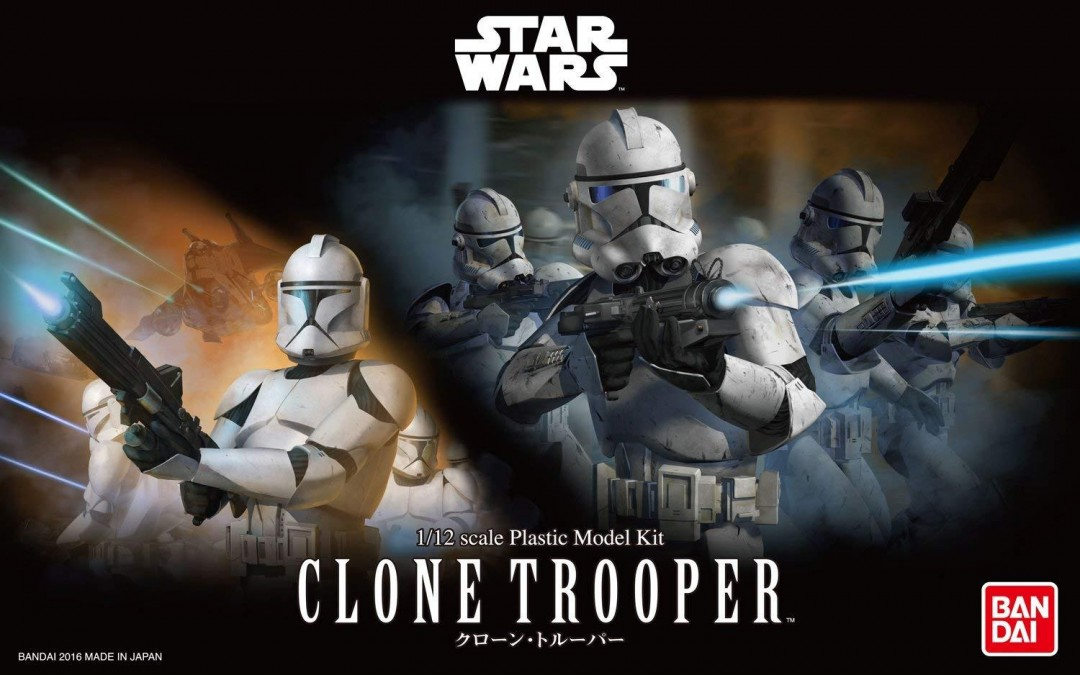 New Revenge of the Sith Clone Trooper Plastic Model Kit available now!