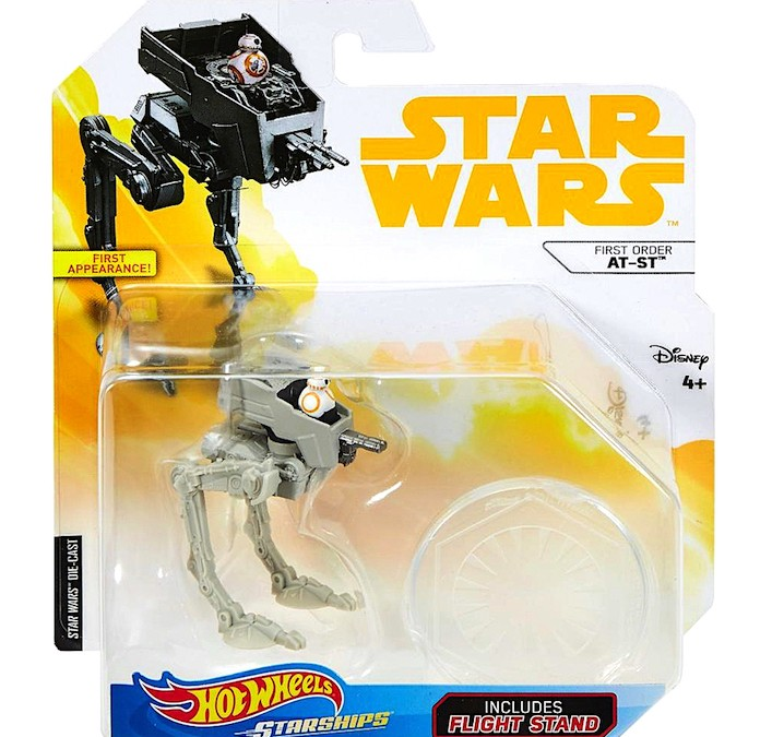 New Solo Movie (Last Jedi) Hot Wheels AT-ST Walker Vehicle Toy available!