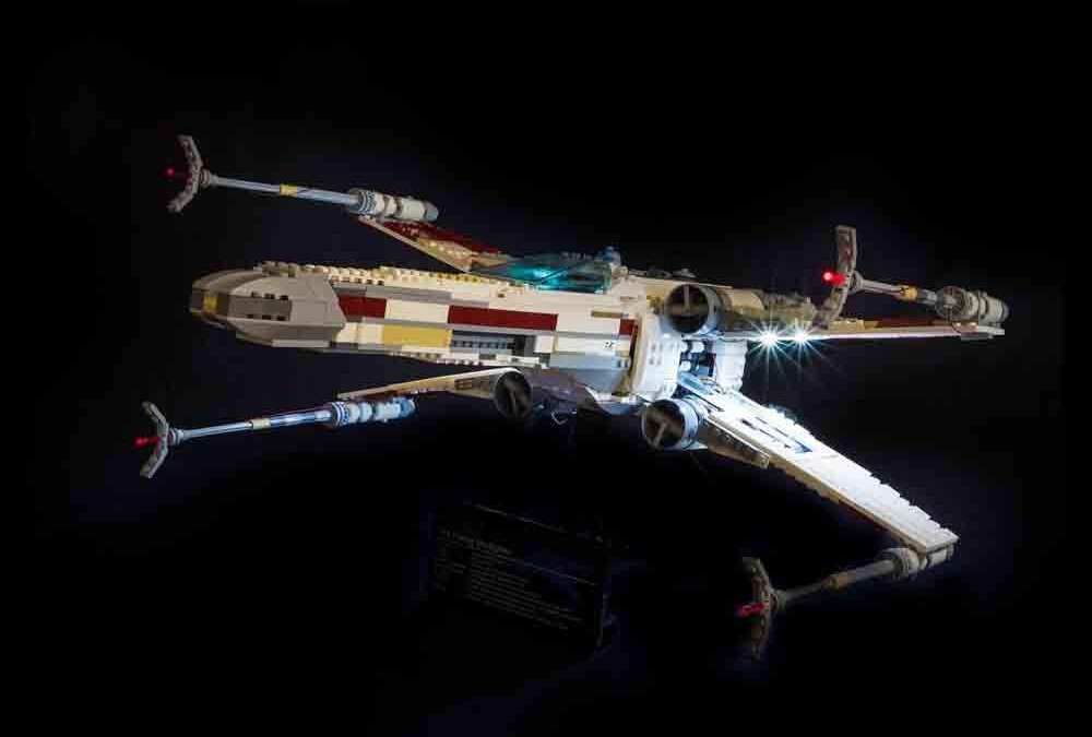 New A New Hope X-Wing Fighter Lightning Lego Set in stock!