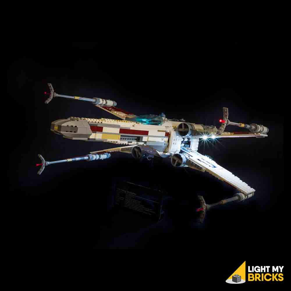 ANH X-Wing Fighter Lightning Lego Set