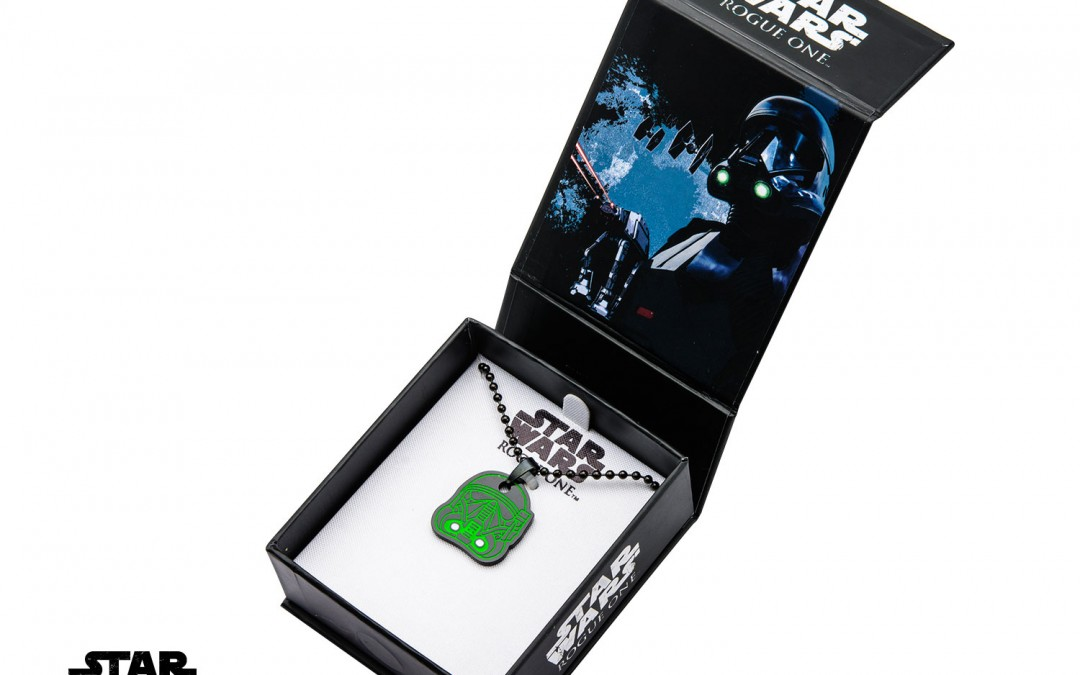 New Rogue One Deathtrooper Glow in the Dark Enamel Pendant available!