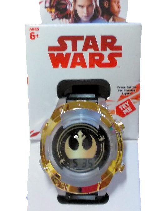 New Last Jedi Flashing LCD Watch available now!
