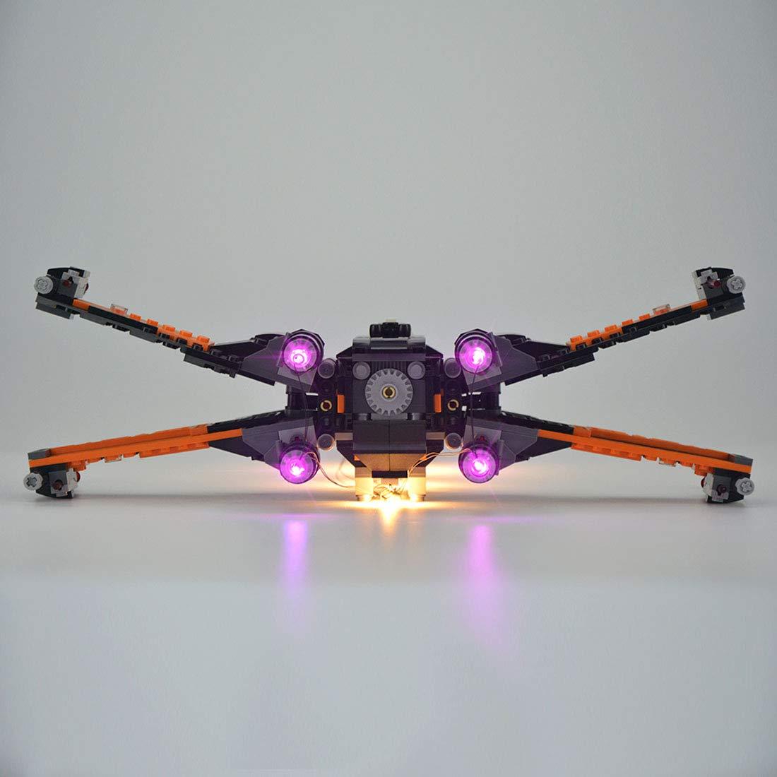 TLJ Poe's X-Wing Fighter Lighting Lego set 2