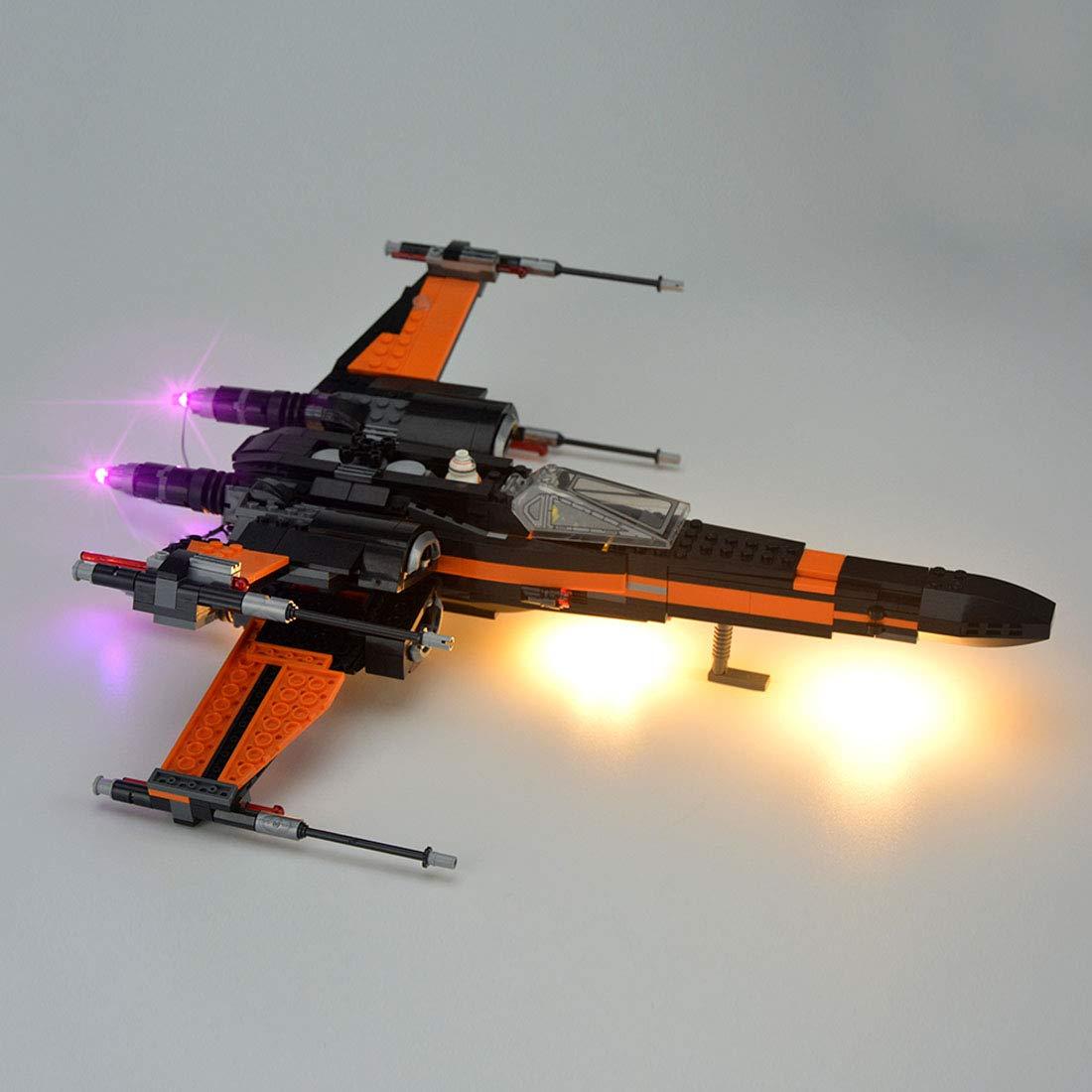 TLJ Poe's X-Wing Fighter Lighting Lego set 3