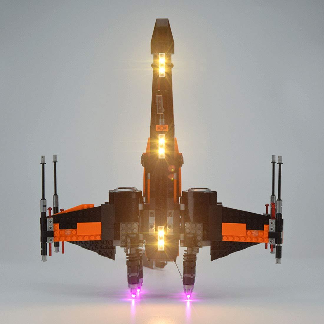 TLJ Poe's X-Wing Fighter Lighting Lego set 4