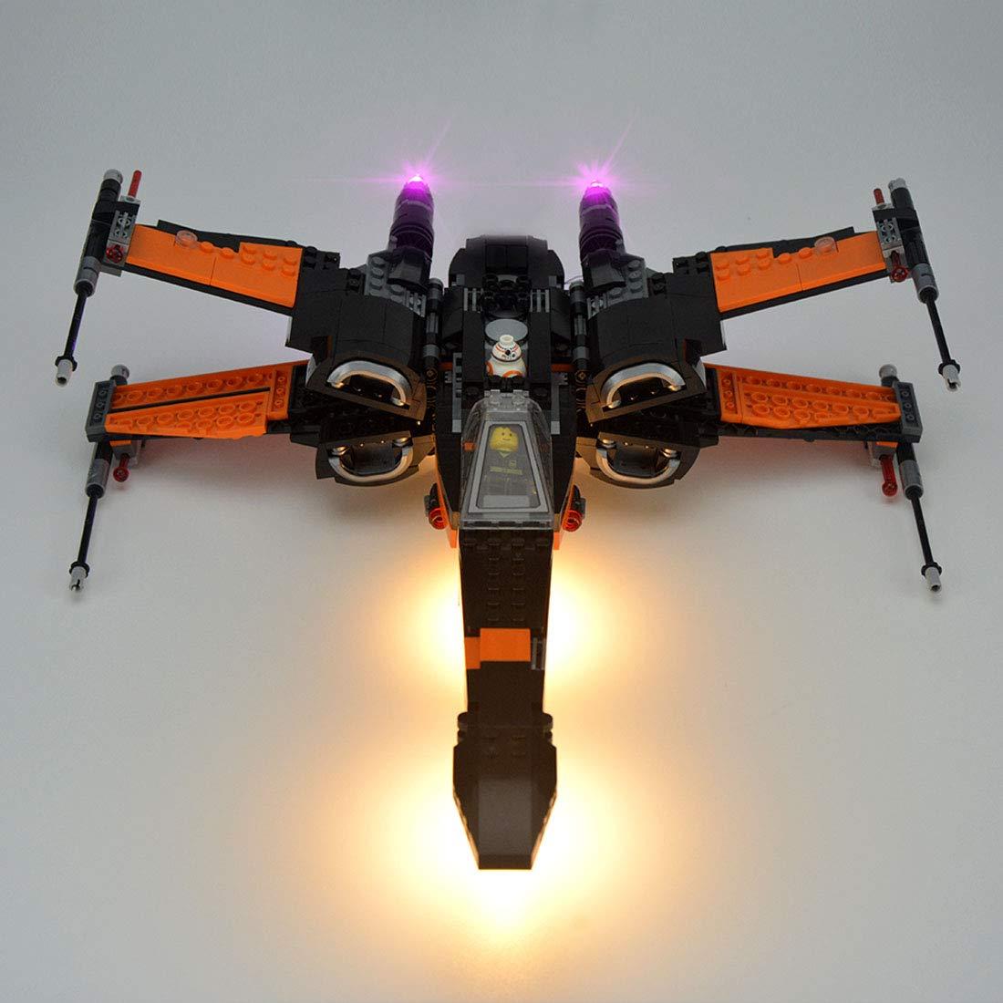 TLJ Poe's X-Wing Fighter Lighting Lego set 1