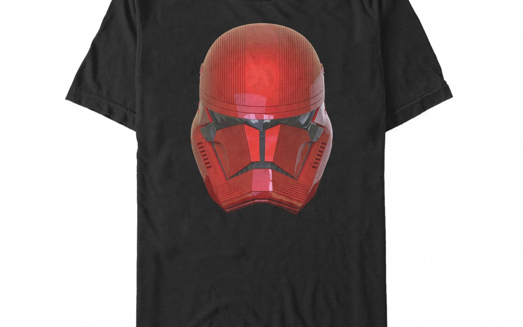 New Rise of Skywalker Sith Trooper Helmet T-Shirt available!