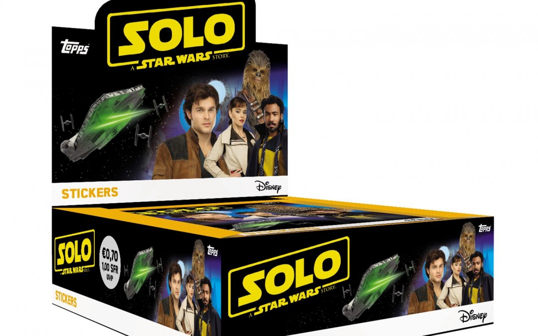 New Solo Movie Topps Sticker Collection Pack available!