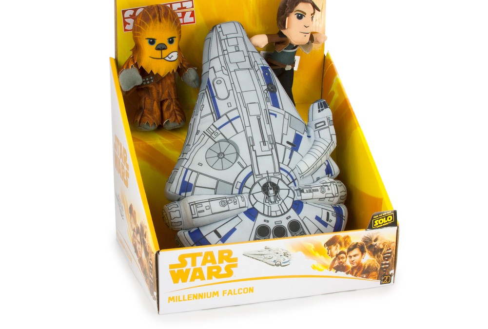New Solo Movie Millennium Falcon Plush Toy Play Set available!