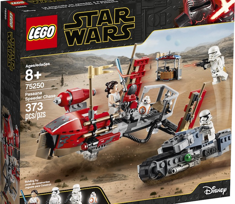 New Rise of Skywalker Pasaana Speeder Chase Lego Set available!