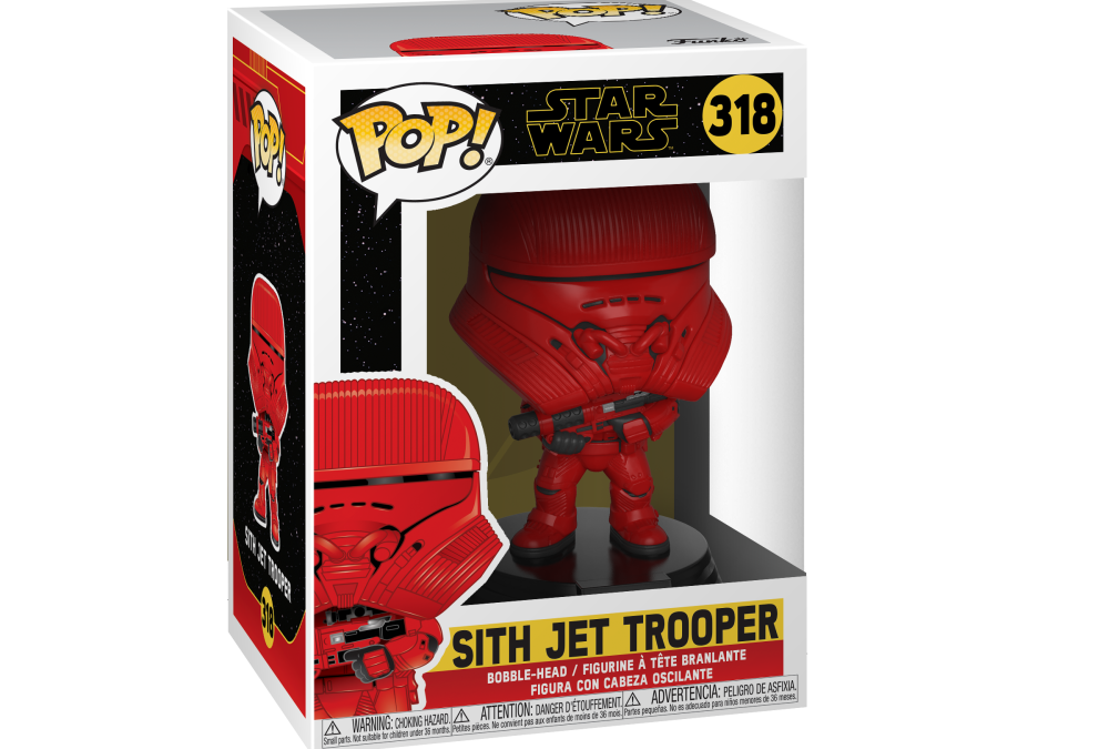 New Rise of Skywalker Sith Jet Trooper Bobble Head Toy available!