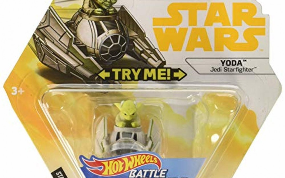 New Solo Movie Hot Wheels Yoda & Starfighter Battle Rollers Vehicle available!