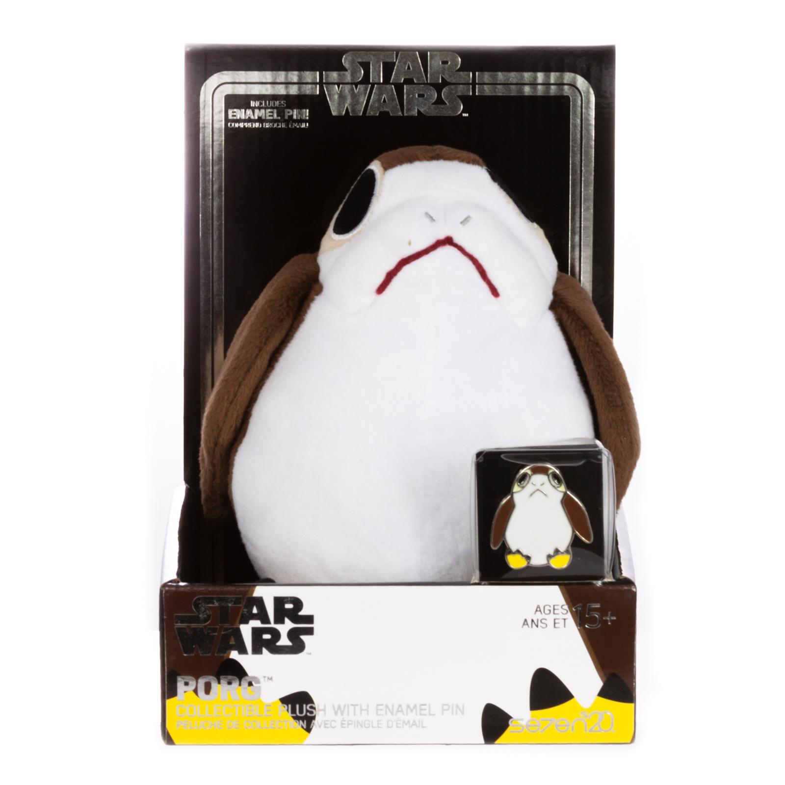 TROS Porg Plush Toy & Pin Set 1