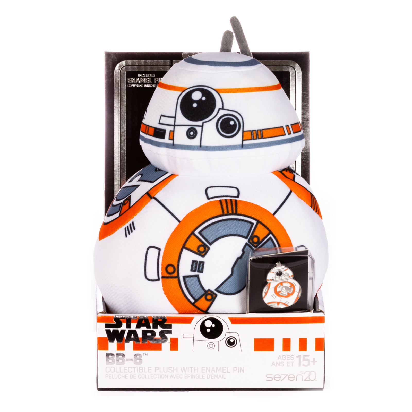 TROS BB-8 Plush Toy & Pin Set 1