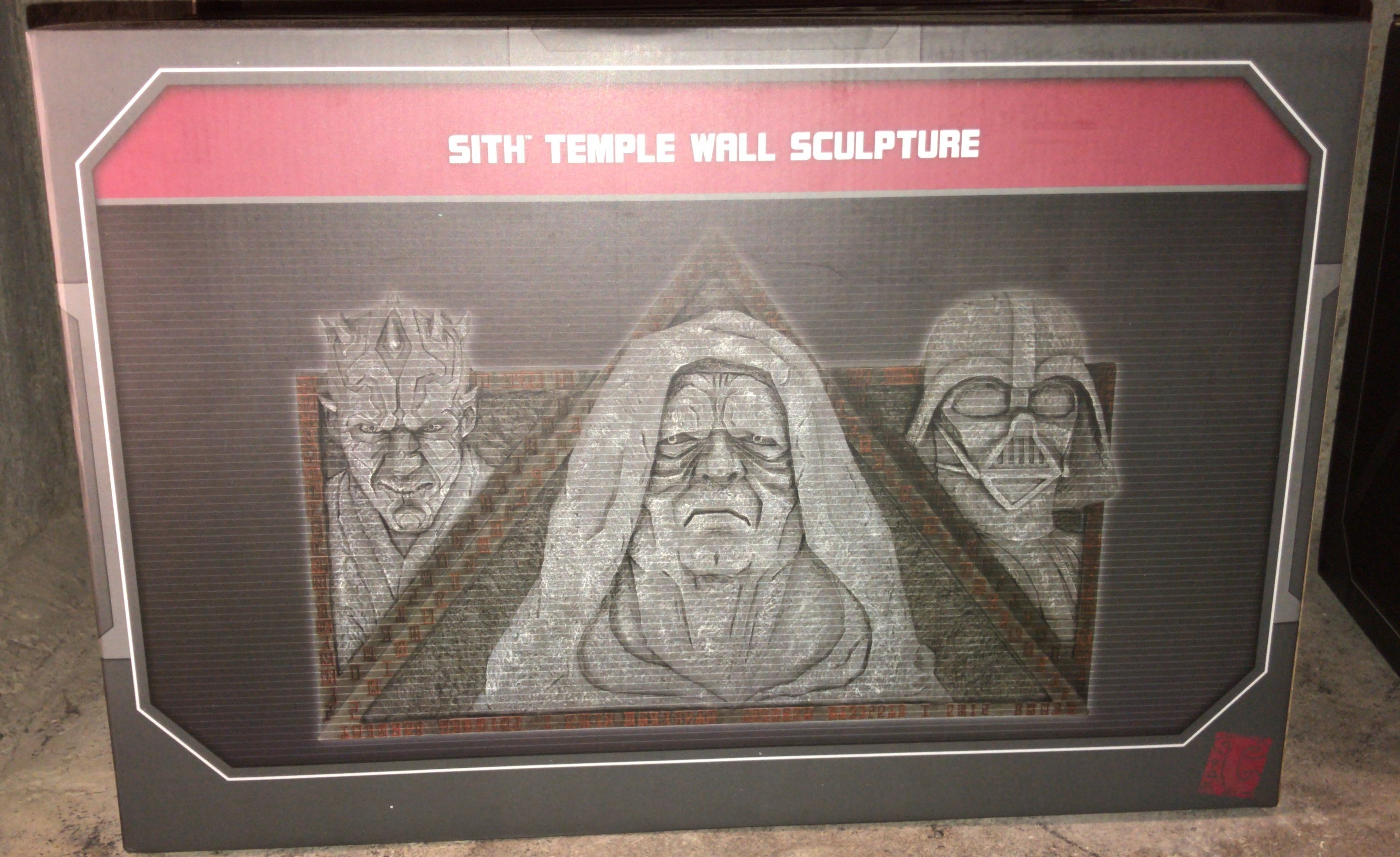 SWGE Sith Temple Wall Sculpture 1