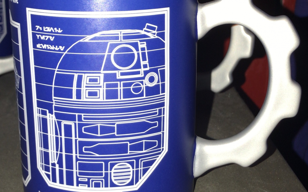 New Galaxy's Edge R2-D2 & BB-8 Schematic Sketch Coffee Mug available!