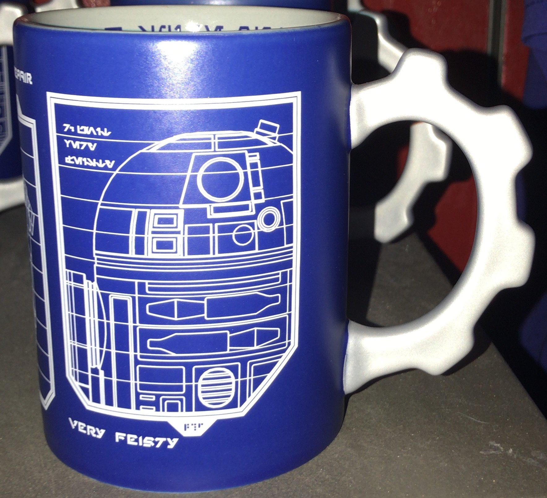 SWGE R2-D2 & BB-8 Schematic Sketch Coffee Mug 1