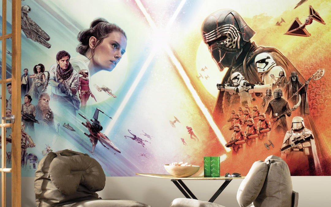 New Rise of Skywalker Peel and Stick Mural Wall Poster available!