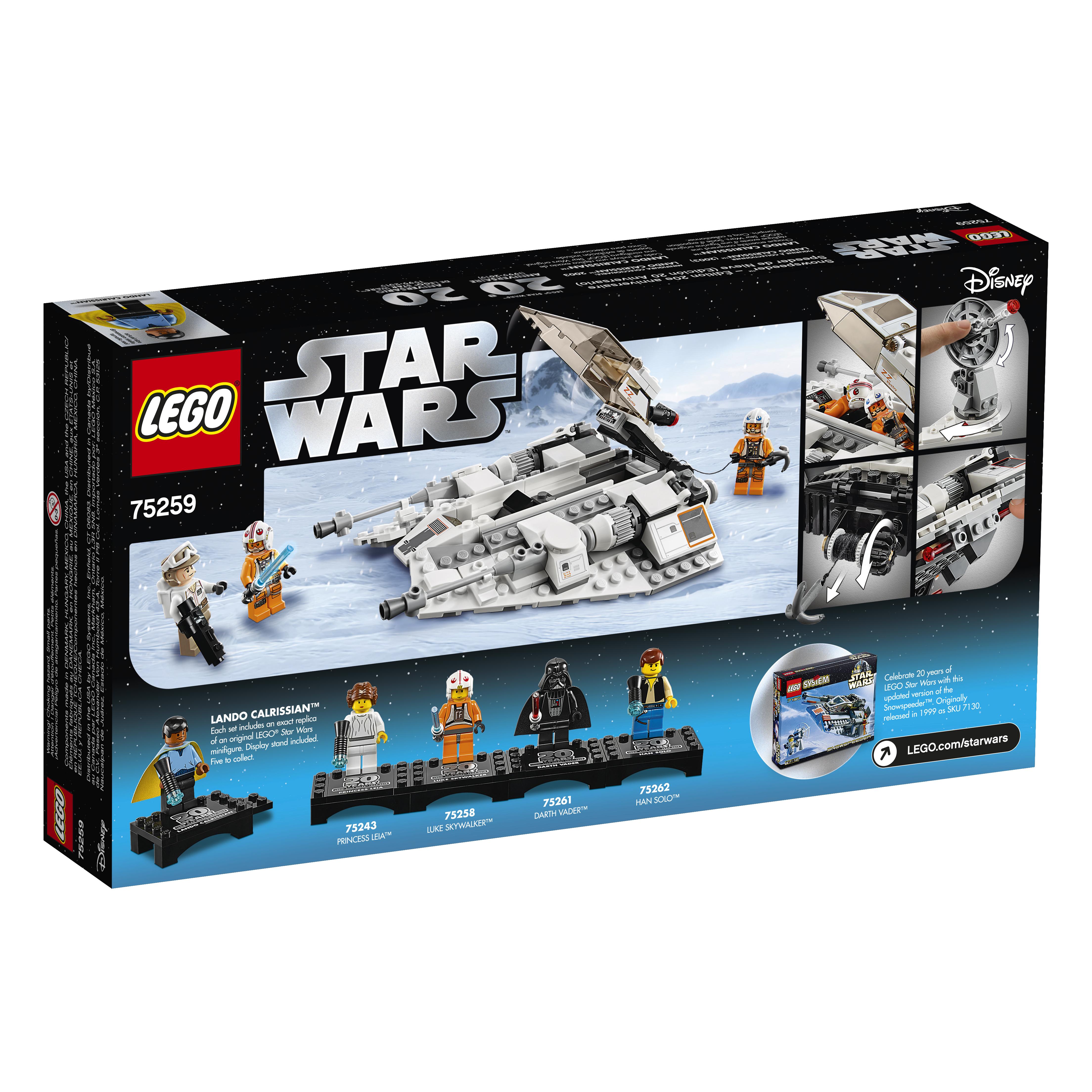 SW 20th Anniversary Edition Snowspeeder Vehicle Lego Set 2