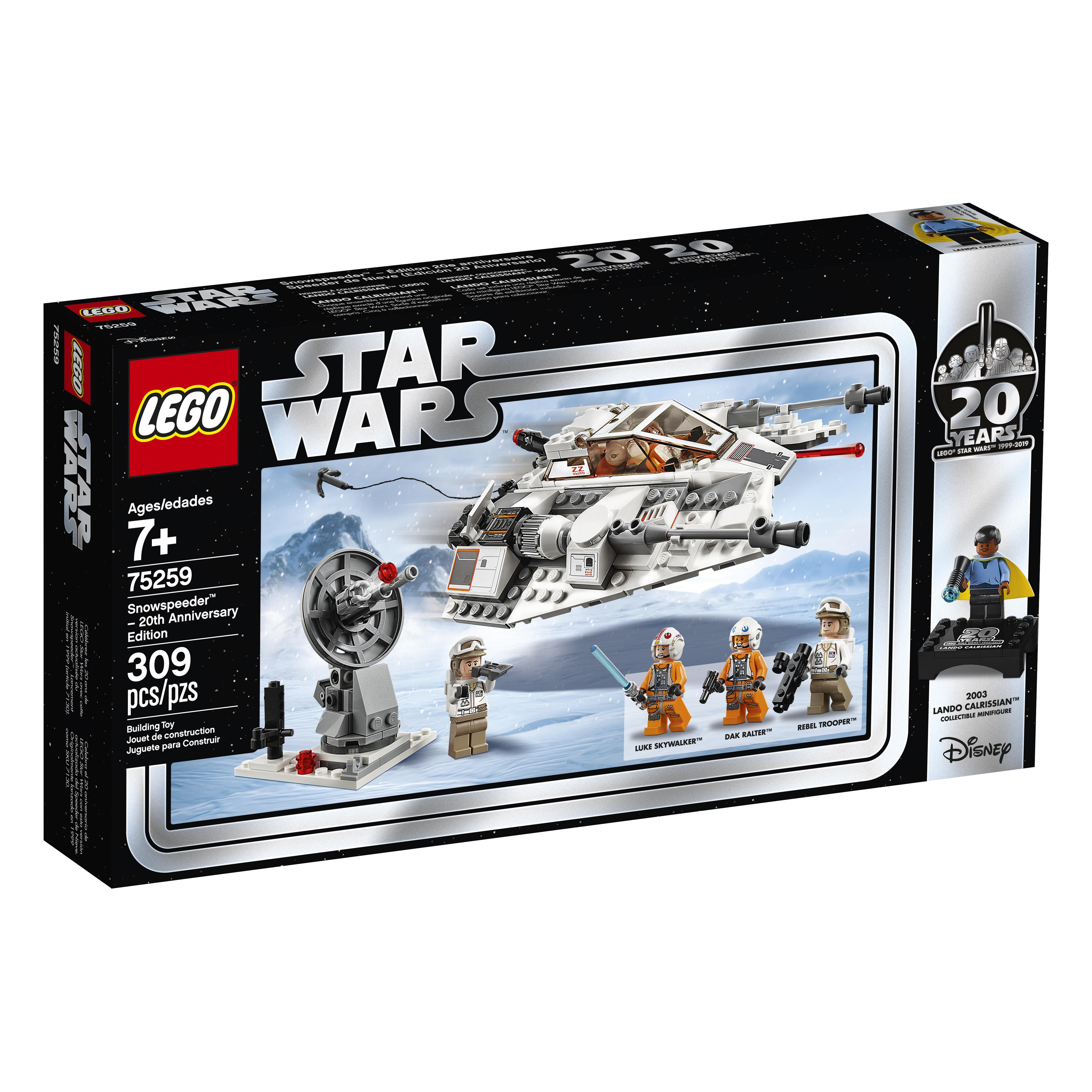 SW 20th Anniversary Edition Snowspeeder Vehicle Lego Set 1