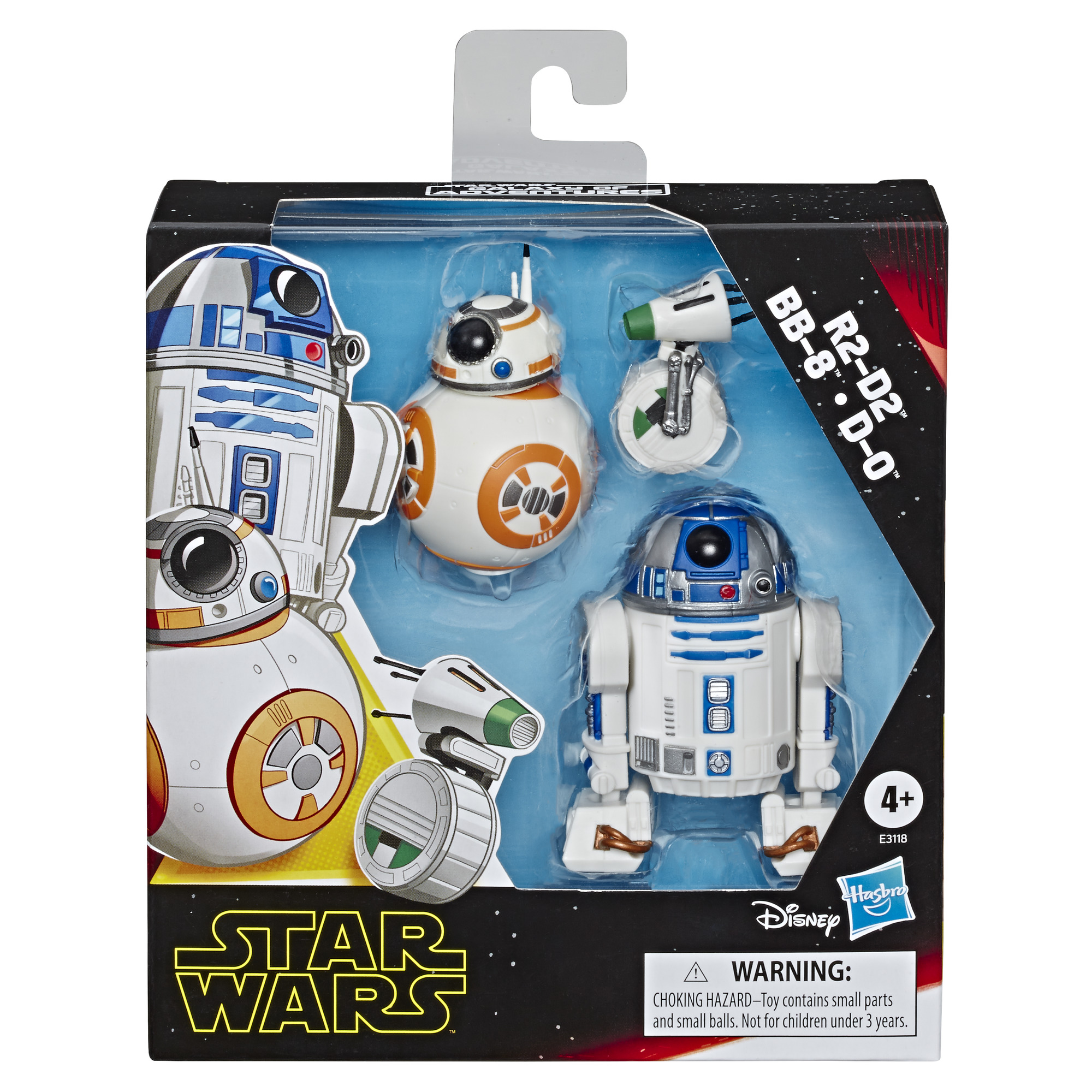 TROS Galaxy of Adventures R2-D2, BB-8, D-O Figure 3-Pack 1