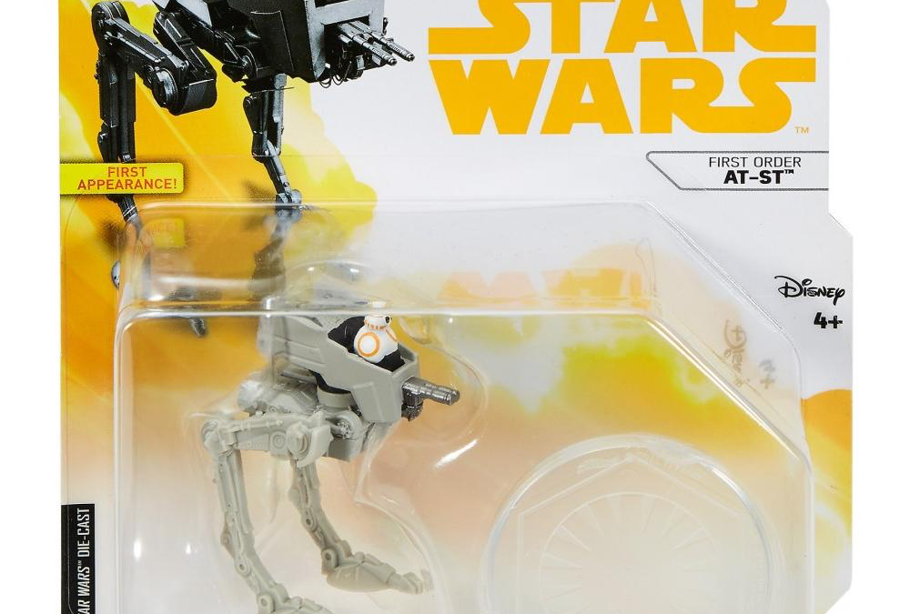 New Solo Movie (The Last Jedi) Hot Wheels First Order AT-ST Star Ship available!