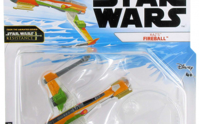 New Star Wars Resistance Kaz's Fireball Starship Toy available!