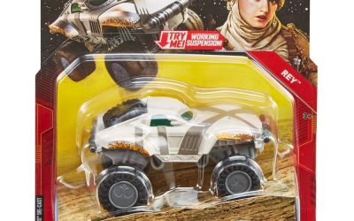 New Rise of Skywalker Hot Wheels Rey All Terrain Character Car in stock!