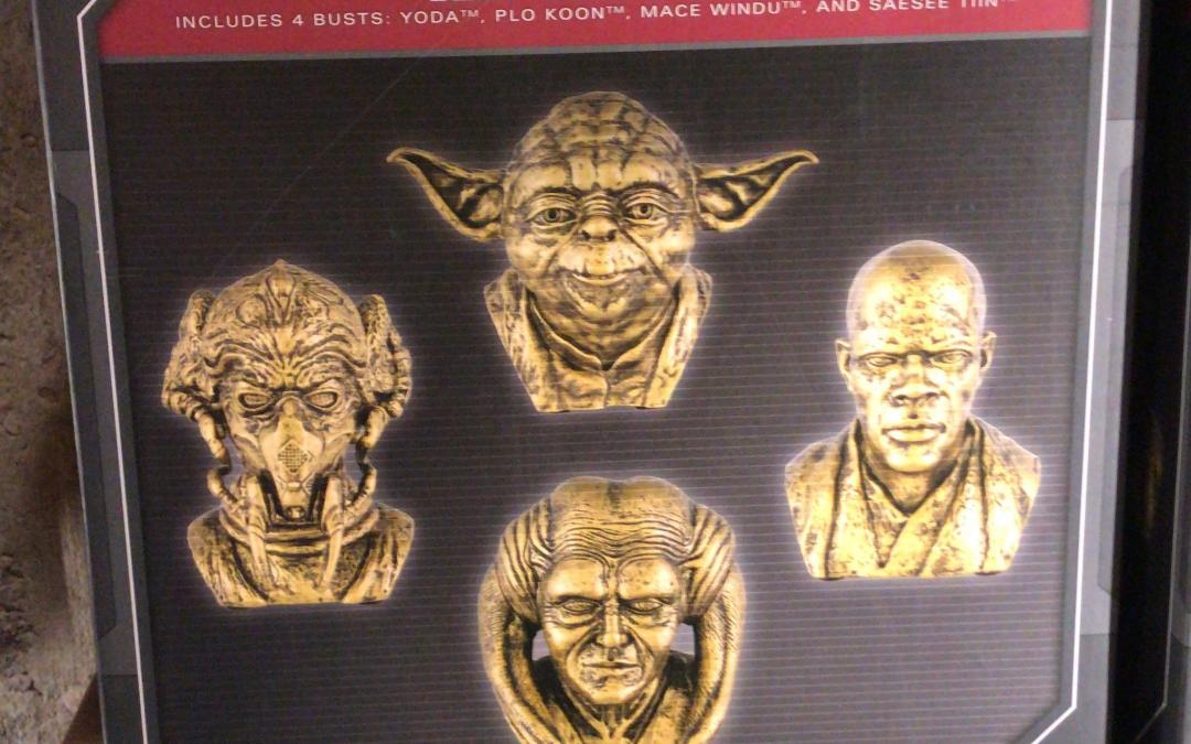 New Star Wars Galaxy's Edge Jedi Mini Bust 4-Pack available!