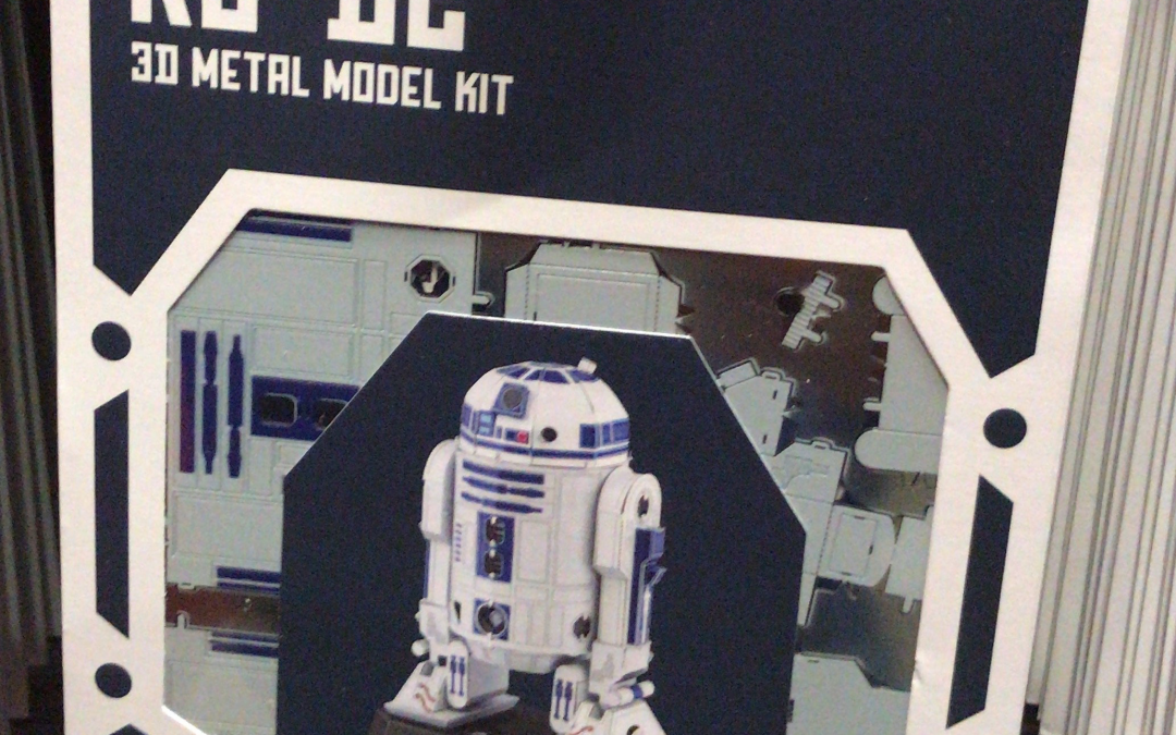 New Galaxy's Edge R2-D2 Droid Factory Metal Model Kit in stock!