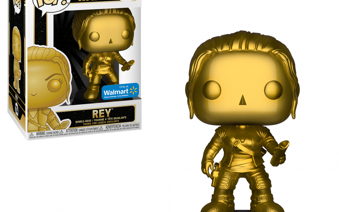 New Force Awakens Rey (Gold Metallic) Bobble Head Toy available!