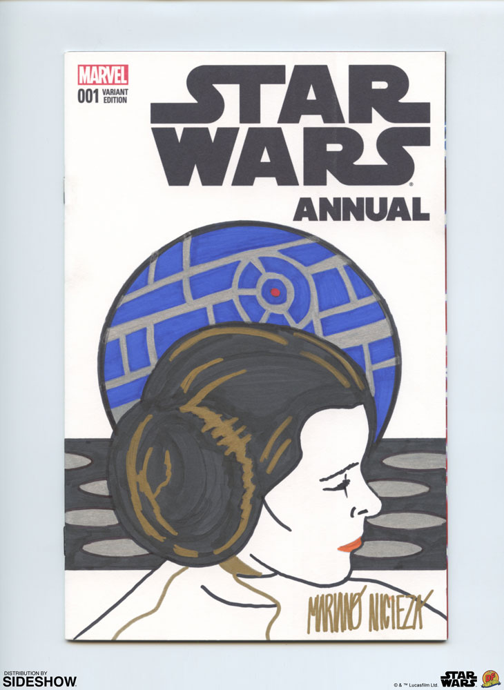 SW Annual #1 Princess Leia Sketch Cover Comic 2
