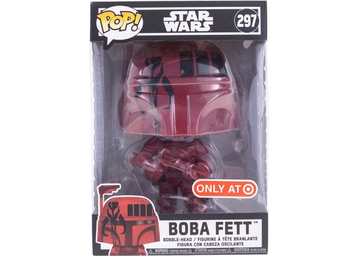 SW Super-Sized Red Boba Fett Bobble Head Toy 1