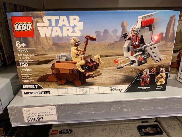 ANH T-16 Skyhopper vs Bantha Microfighters Lego set 4