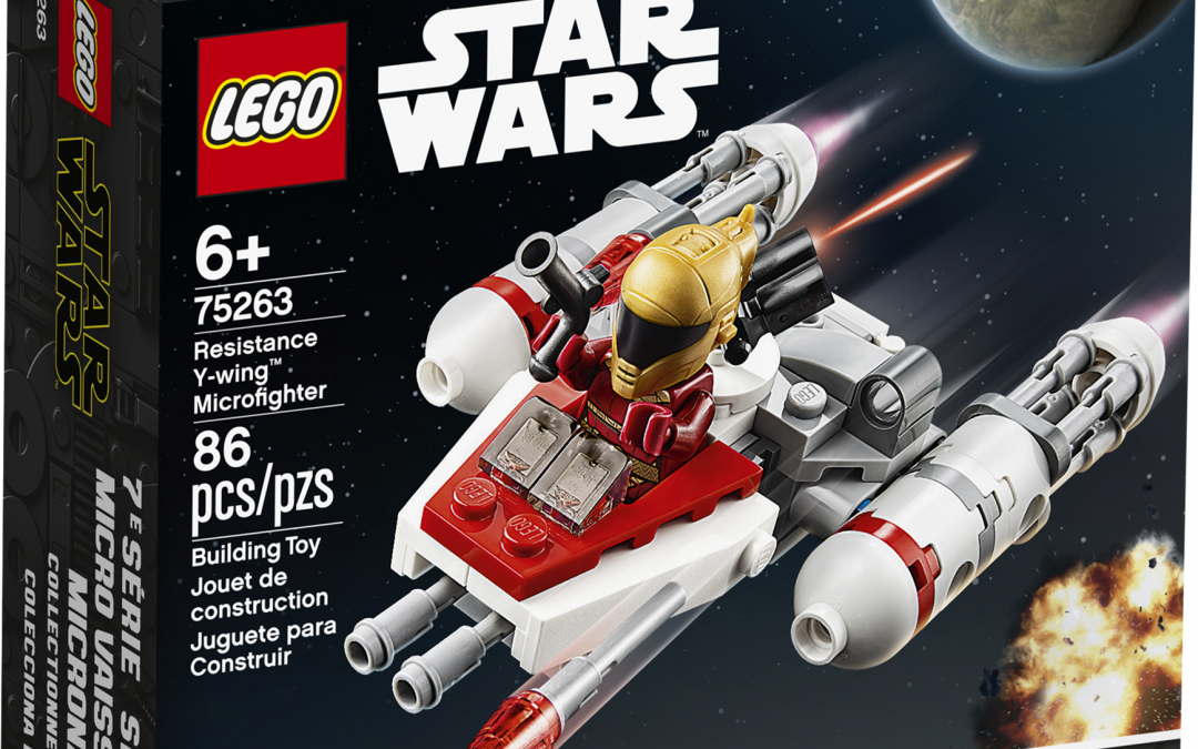 New Rise of Skywalker Resistance Y-wing Microfighter Lego Set in stock!