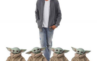 New Baby Yoda (The Child) Cardboard Standee 4-Pack Set available!
