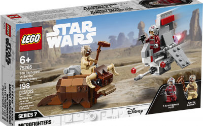 New A New Hope T-16 Skyhopper vs Bantha Microfighters Lego set available!