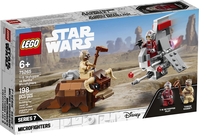 ANH T-16 Skyhopper vs Bantha Microfighters Lego set 1
