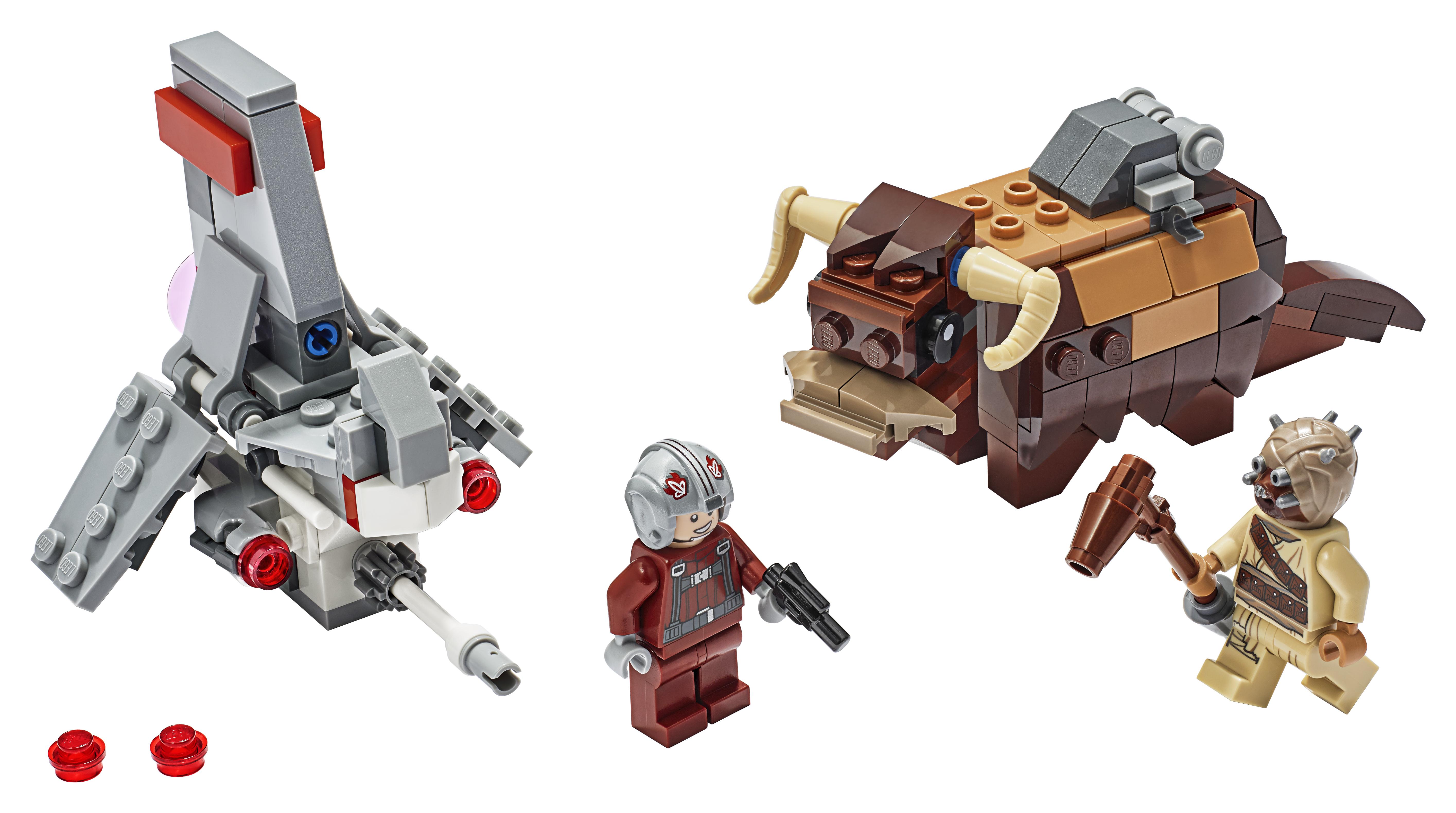 ANH T-16 Skyhopper vs Bantha Microfighters Lego set 3