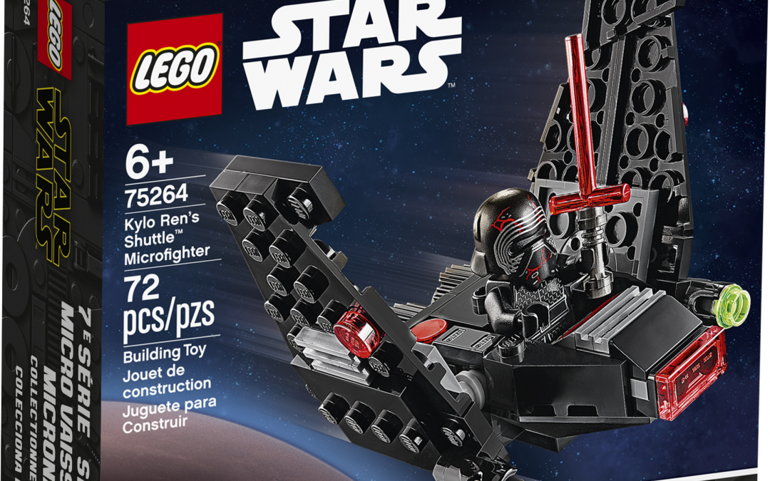 New TROS Kylo Ren's Shuttle Microfighter Lego set available!