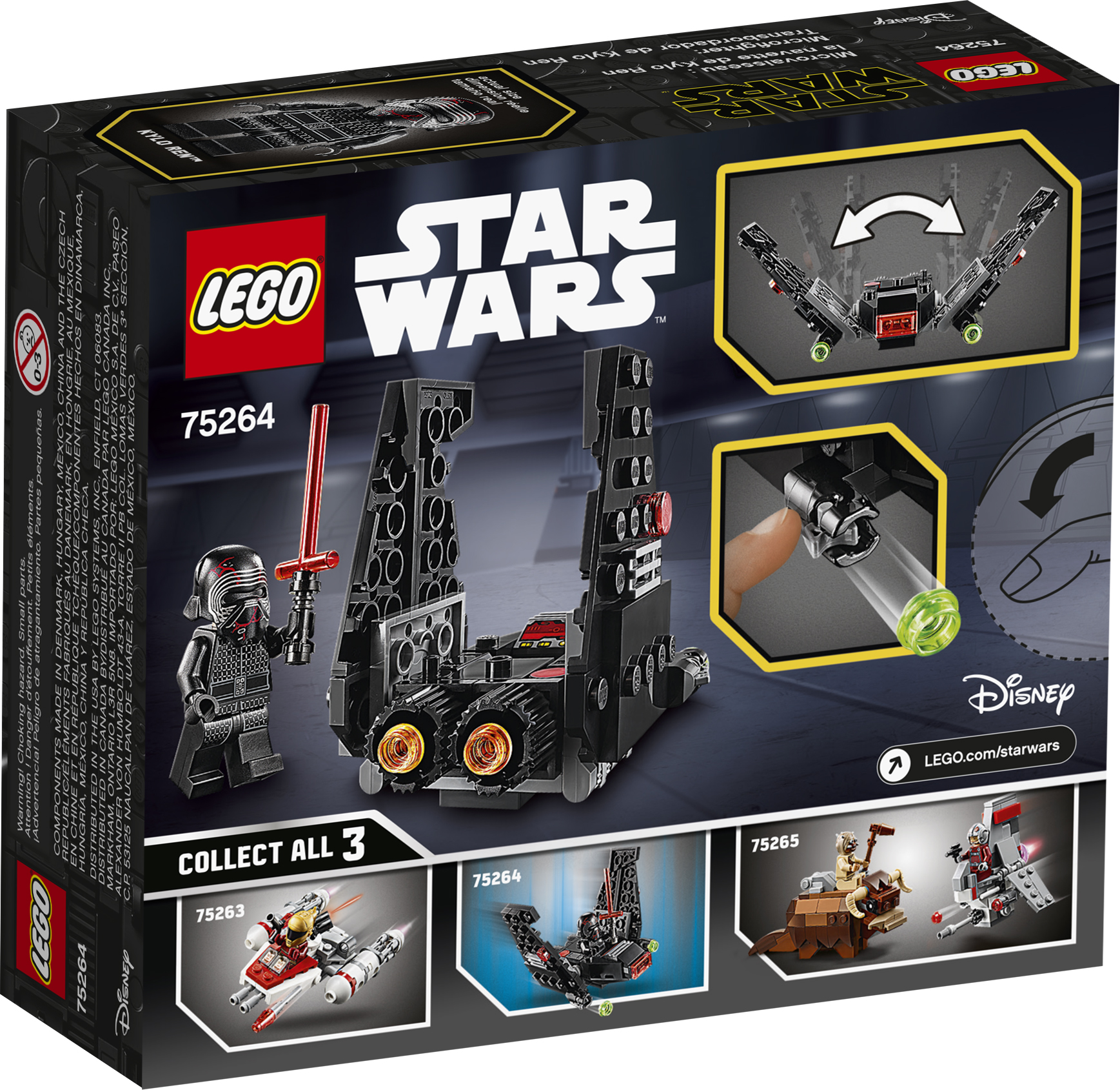 TROS Kylo Ren's Shuttle Microfighter Lego set 2