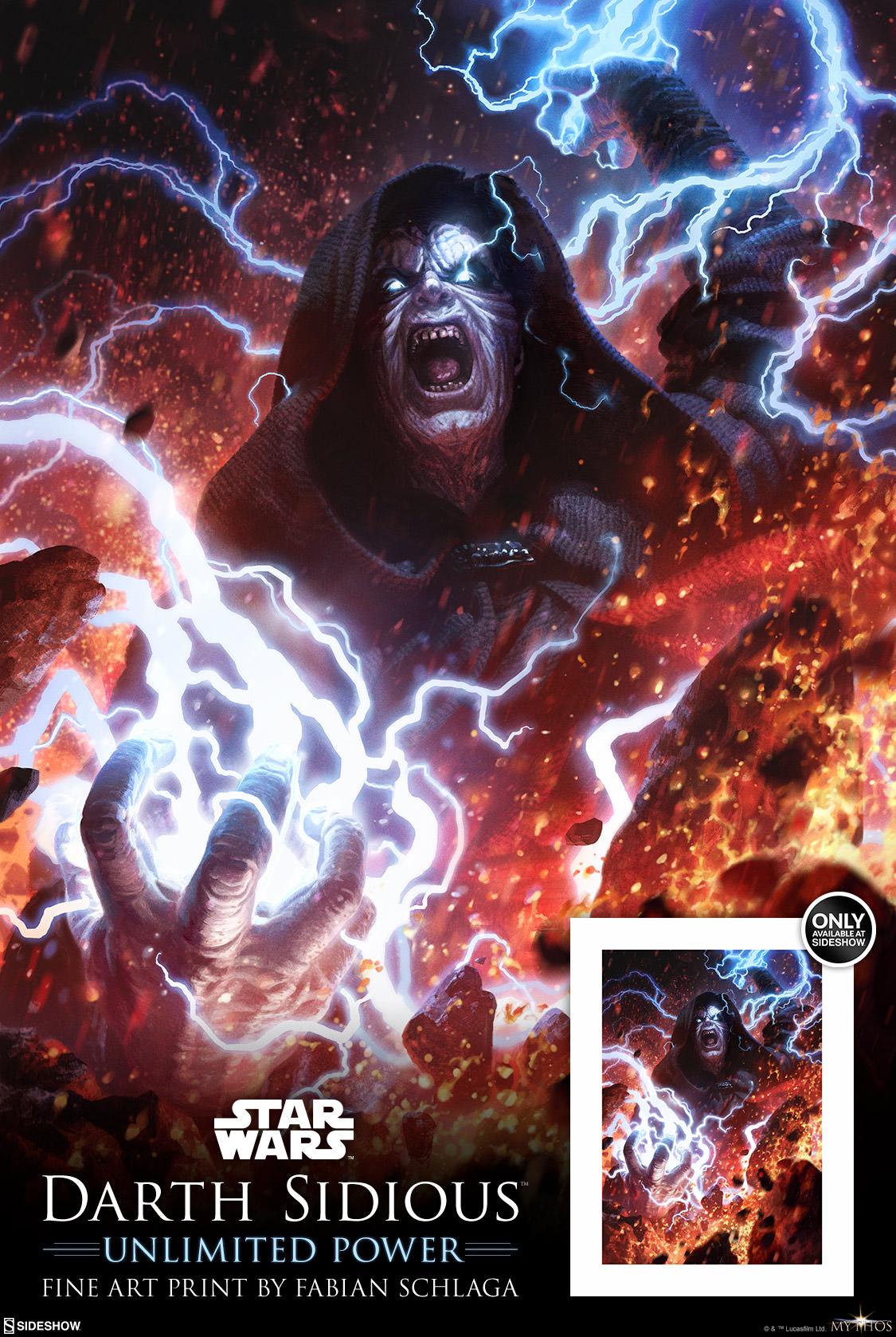 SW Darth Sidious: Unlimited Power Fine Art Print