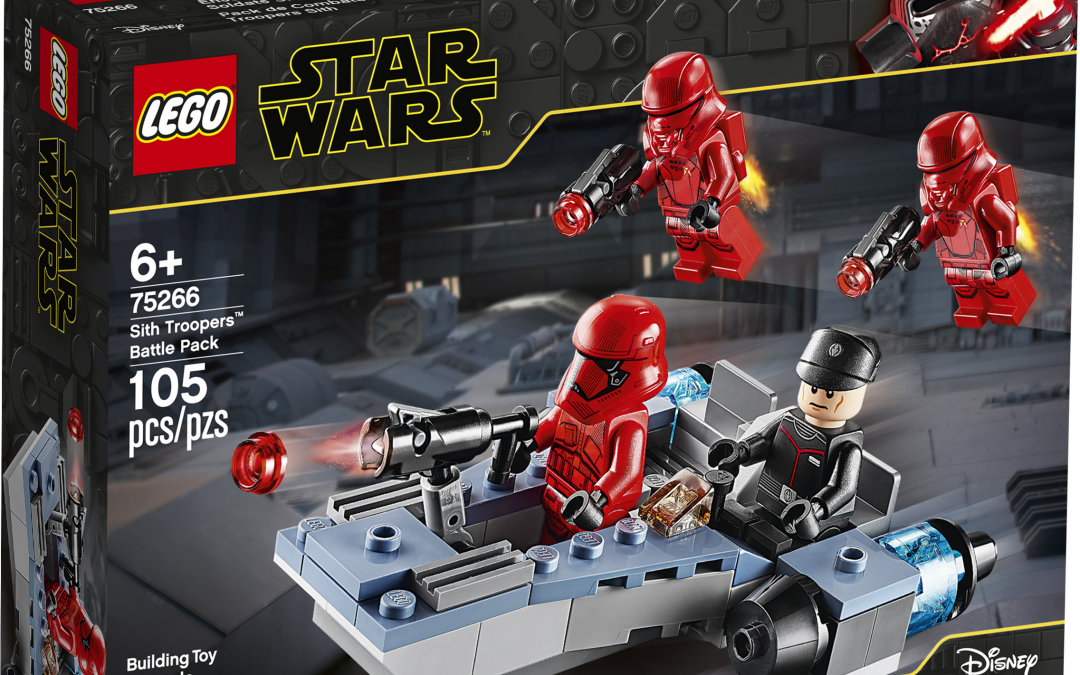 New Rise of Skywalker Sith Troopers Lego Battle Pack in stock!
