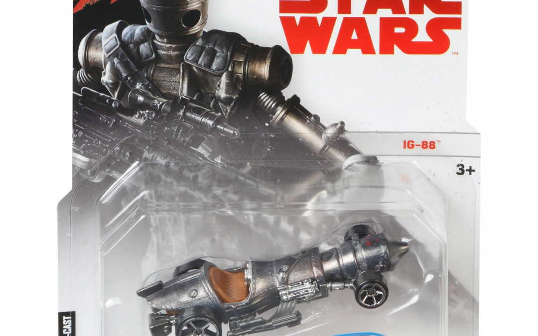 New Star Wars IG-88 Hot Wheels Character Car available!